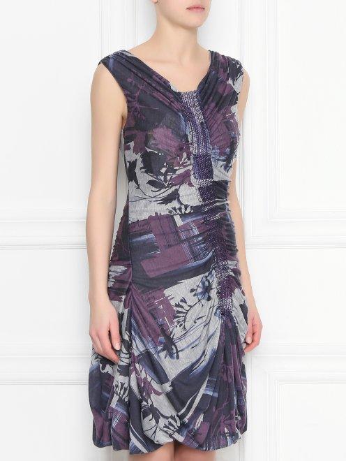 Мини-платье с принтом - МодельВерхНиз