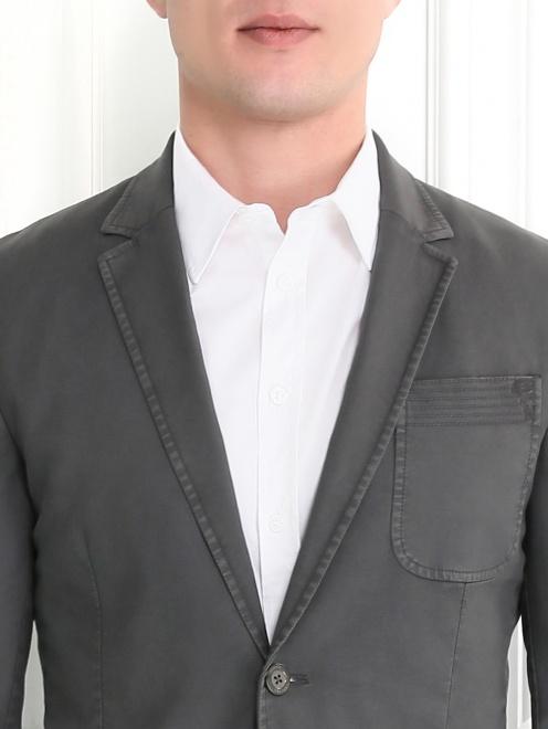 Пиджак однобортный из хлопка  - Модель Общий вид1