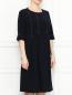 Платье-миди с контрастной отстрочкой Marina Rinaldi  –  МодельВерхНиз
