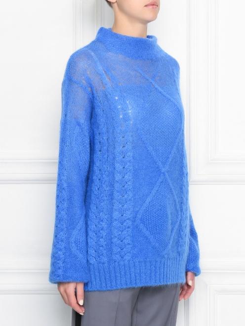 Удлиненный свитер из шерсти - МодельВерхНиз