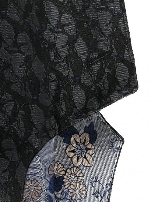 Пиджак однобортный из шелка с узором - Деталь1