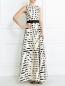 Платье-макси из смешанного шелка с поясом Pianoforte  –  Модель Общий вид