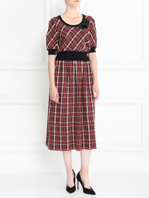 Джемпер из смешанной шерсти с декоративной вышивкой - Общий вид