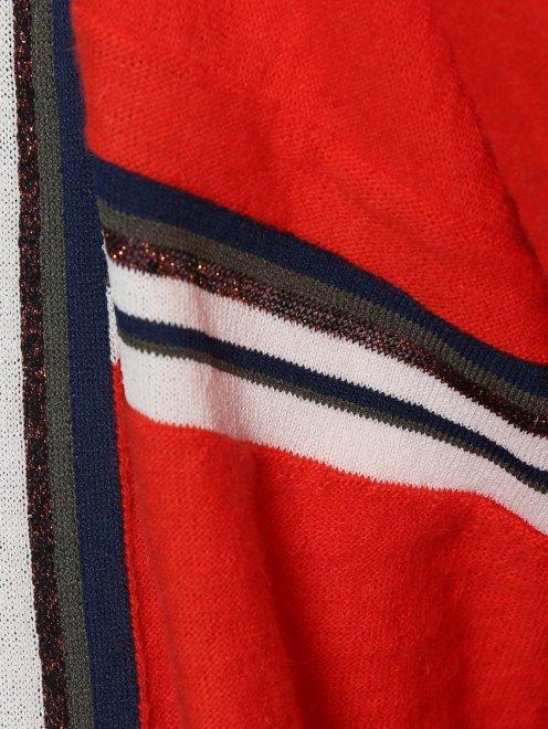 Джемпер свободного кроя из шерсти с контрастной отделкой - Деталь1