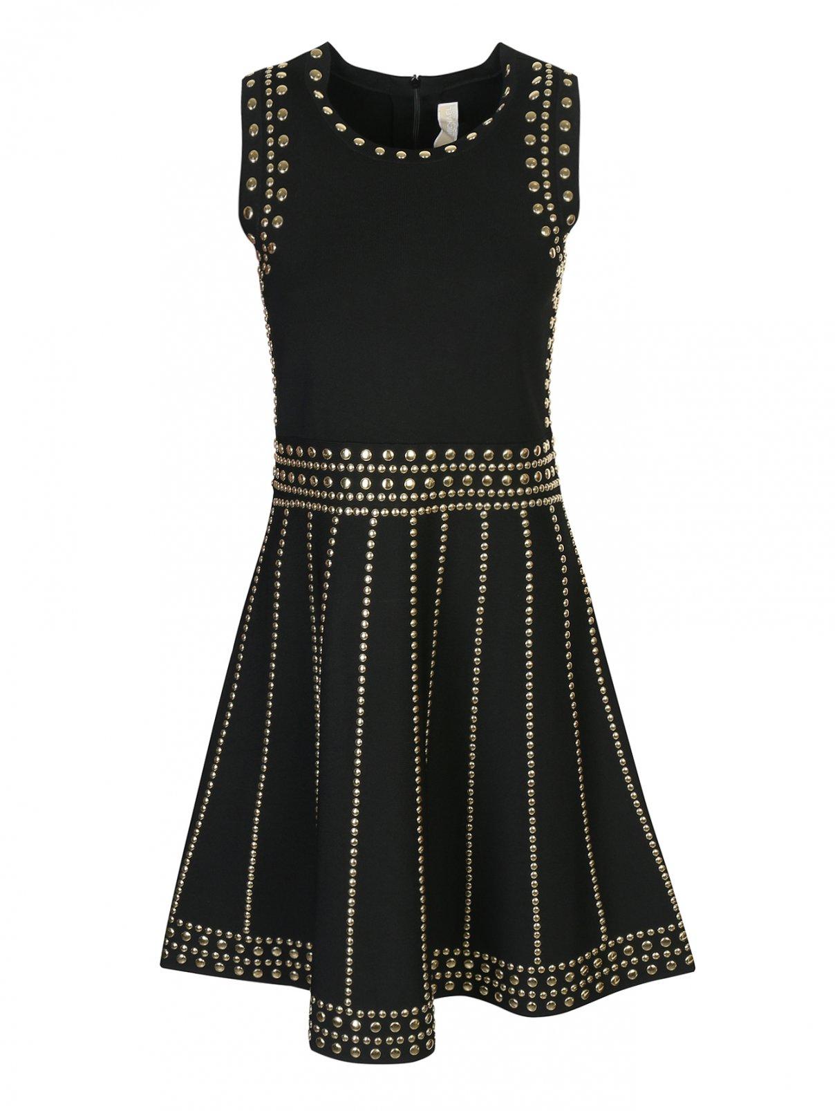 Платье из вискозы декорированное заклепками Michael by Michael Kors  –  Общий вид