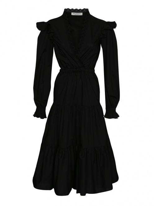 Платье хлопковое с воланами  - Общий вид