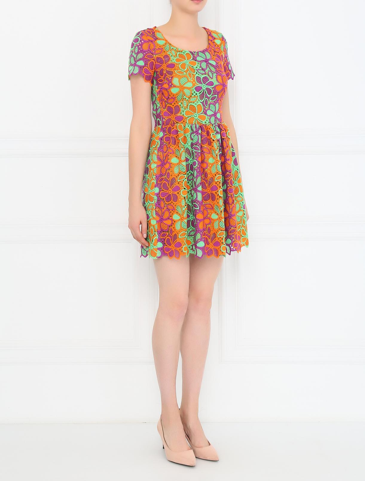 """Платье-мини с узором """"кружево"""" Moschino Boutique  –  Модель Общий вид"""