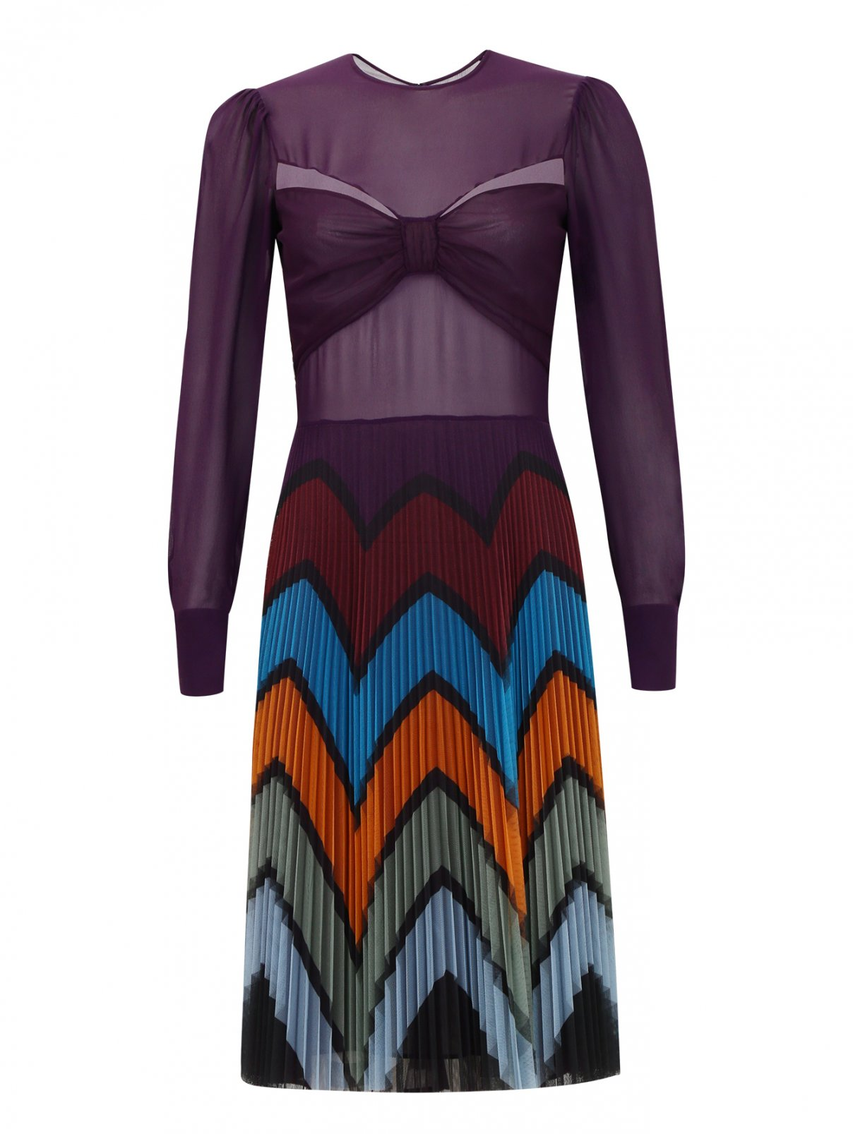 Платье-мини с плиссированной юбкой Mary Katrantzou  –  Общий вид