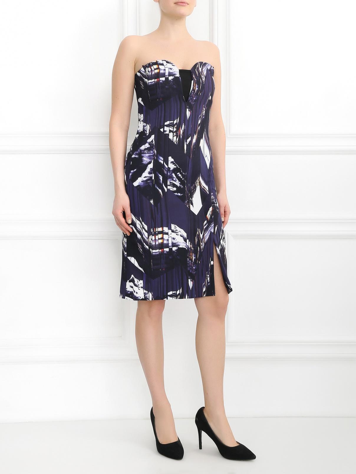 Платье-мини с узором Kenzo  –  Модель Общий вид