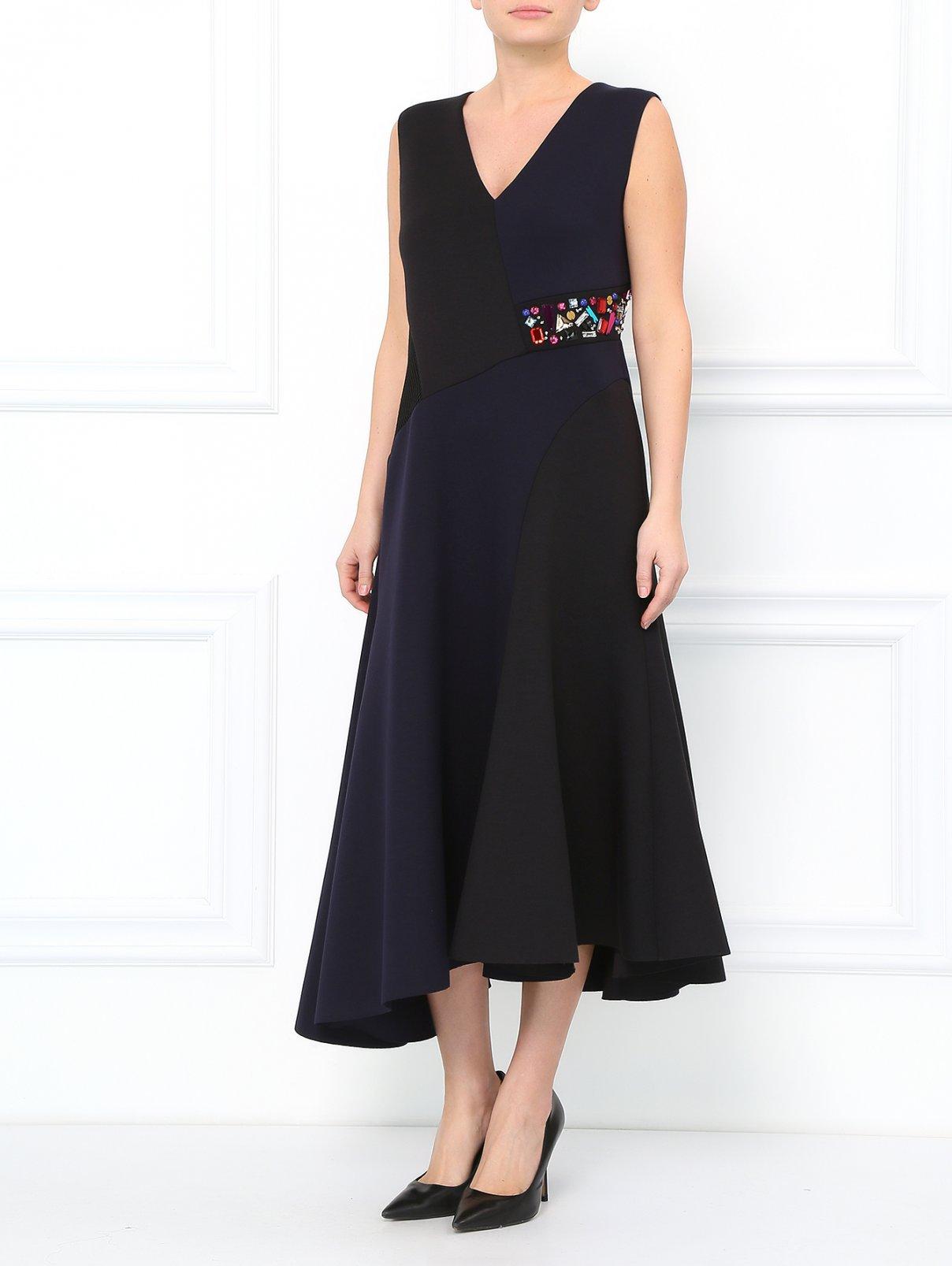 Платье-макси асимметричного кроя с кристаллами DKNY  –  Модель Общий вид