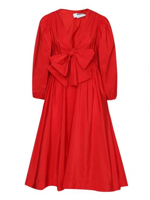 Платье миди на резинке - Общий вид