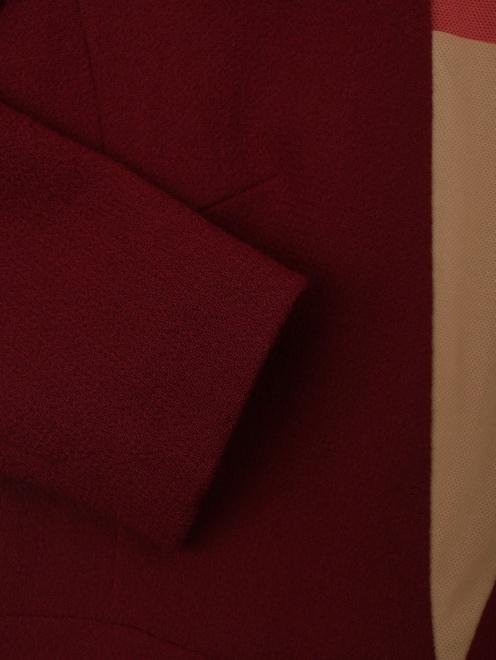 Платье приталенное, из шерсти - Деталь1