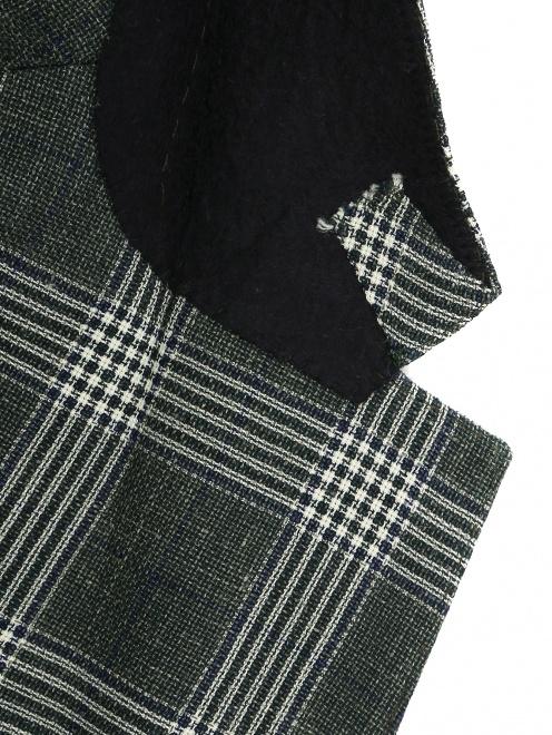 Пиджак из шерсти и льна  - Деталь1