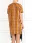 Платье-мини из хлопка декорированное пайетками N21  –  Модель Верх-Низ1