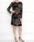 Платье из бархата с рисунком Alberta Ferretti  –  МодельОбщийВид