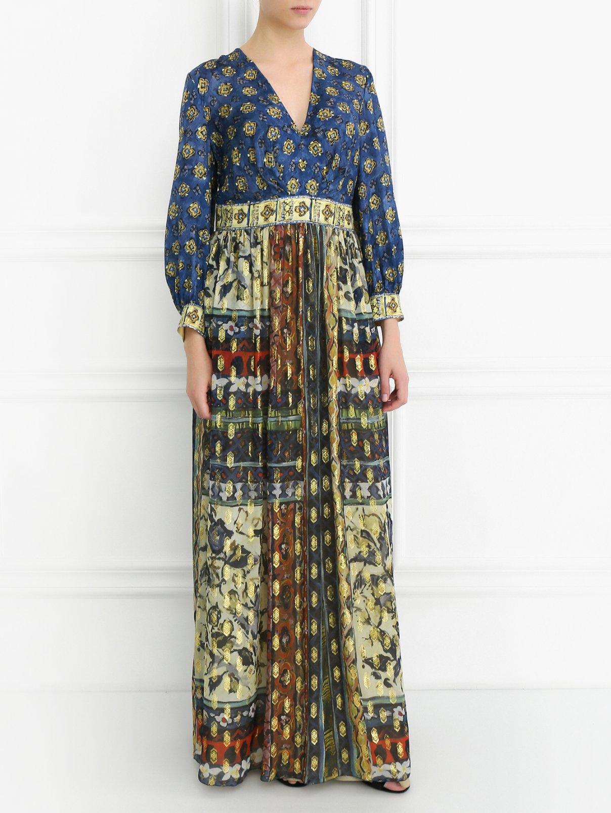 Платье-макси с узором Alberta Ferretti  –  Модель Общий вид