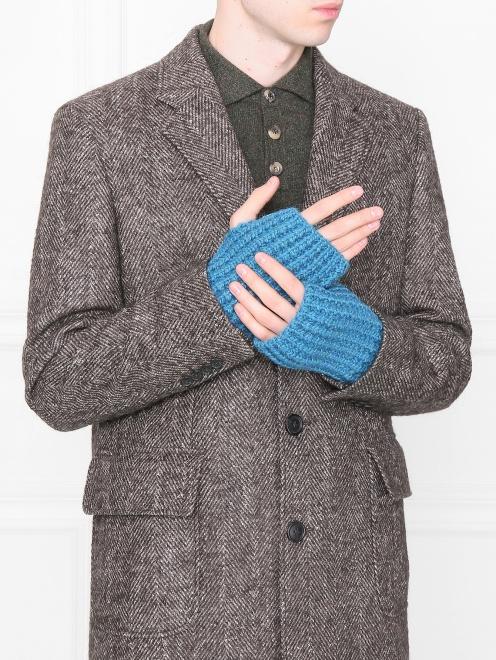 Перчатки-митенки из смешанной шерсти - Общий вид