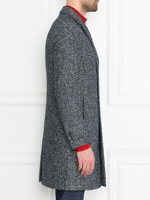 Пальто из смешанной шерсти с узором  - МодельВерхНиз2