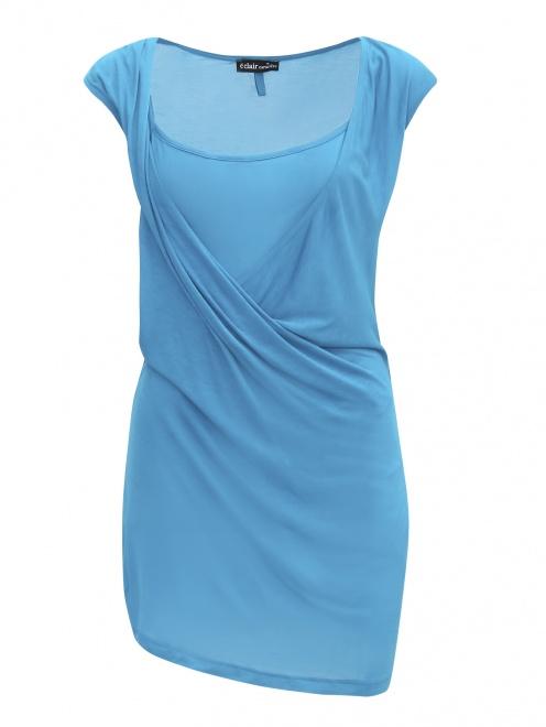 Платье-мини из трикотажа - Общий вид