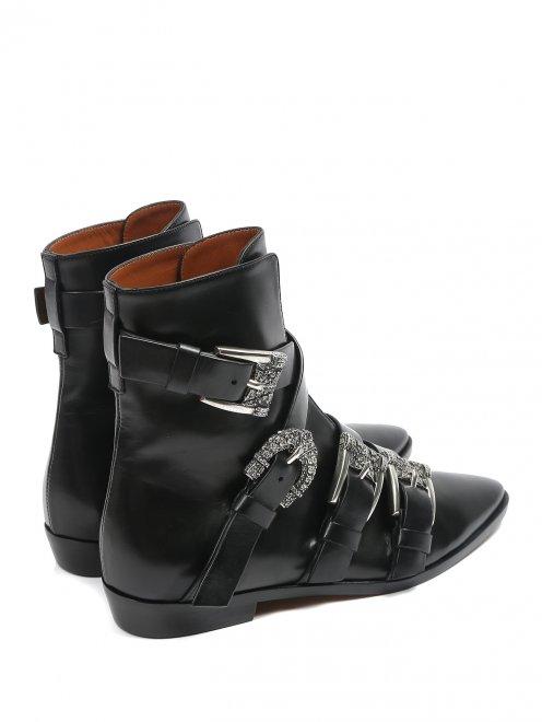 Ботинки кожаные с металлическими пряжками - Обтравка2