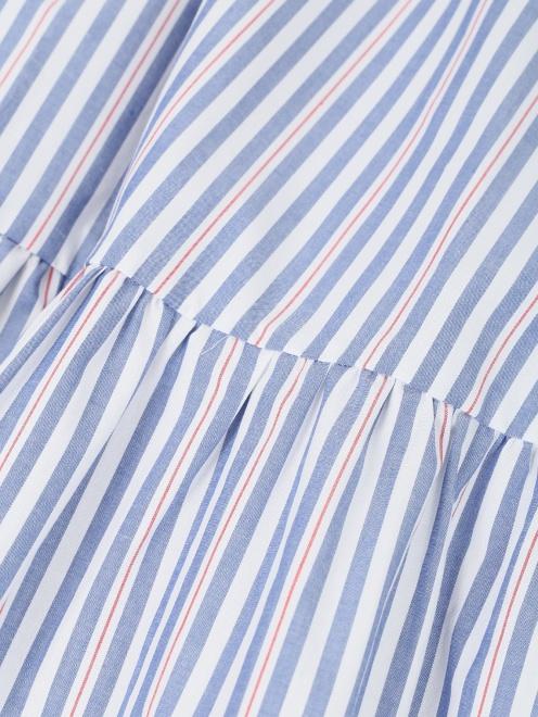 Платье из хлопка, с узором полоска  - Деталь1