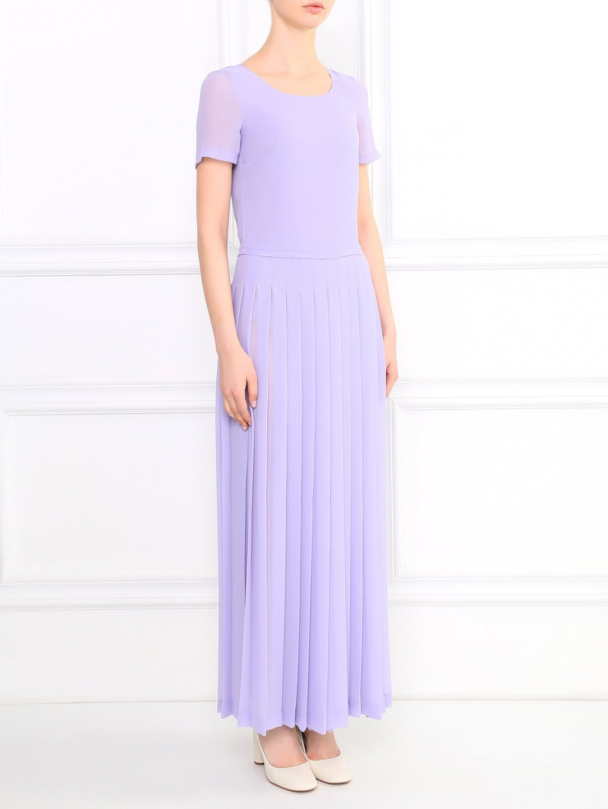Платье-макси Moschino Love  –  Модель Общий вид  – Цвет:  Фиолетовый