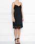 Платье из шелка и хлопка с кружевной отделкой N21  –  МодельВерхНиз