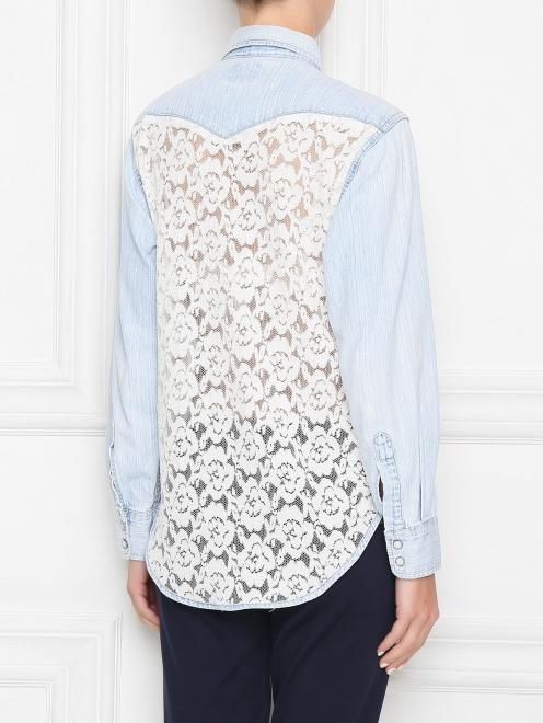 Рубашка из хлопка на кнопках - МодельВерхНиз1