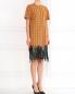 Платье-мини из хлопка декорированное пайетками N21  –  Модель Общий вид