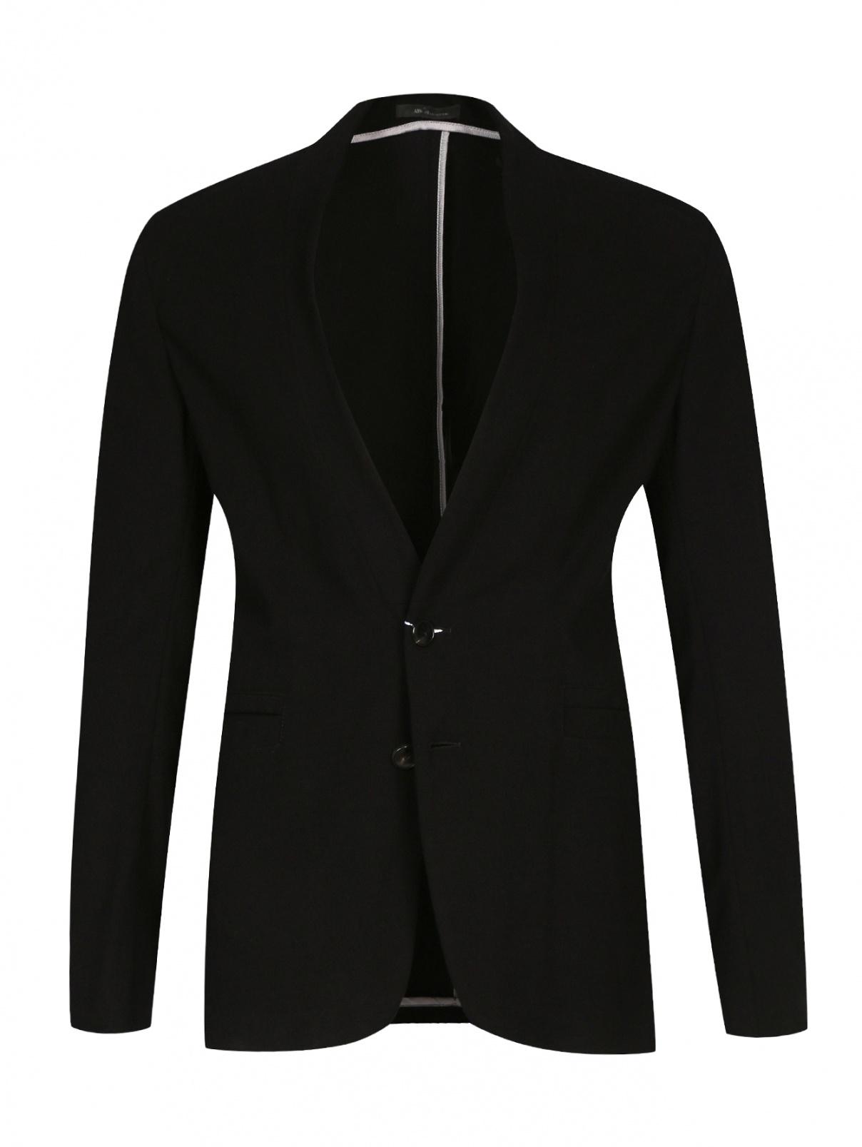 Легкий однобортный пиджак из трикотажа Armani Collezioni  –  Общий вид