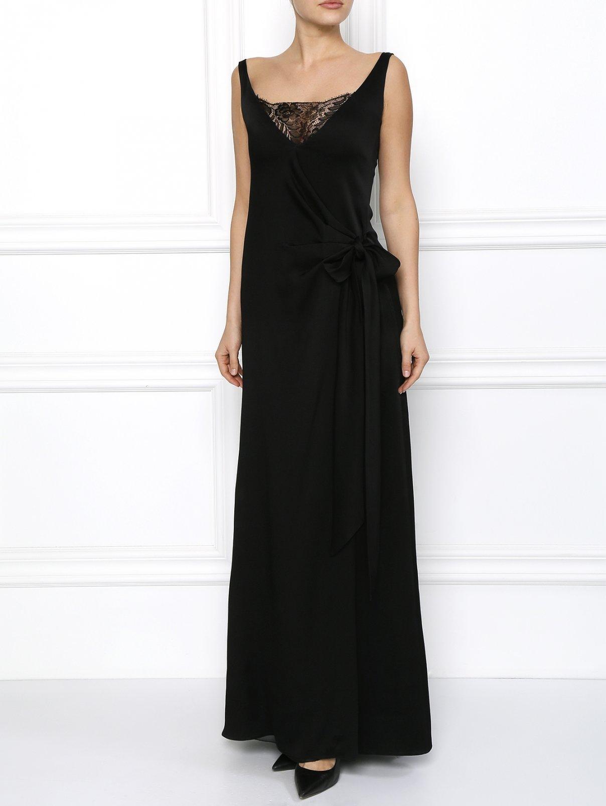 Платье в пол с кружевным декором Emporio Armani  –  Модель Общий вид