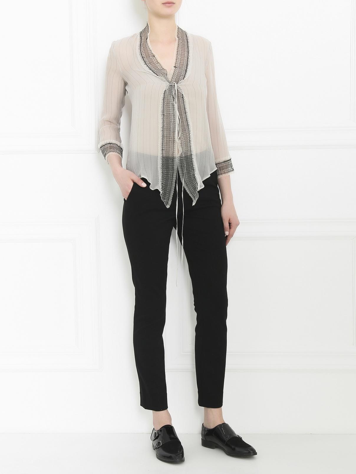 Узкие трикотажные укороченные брюки Diane von Furstenberg  –  Модель Общий вид