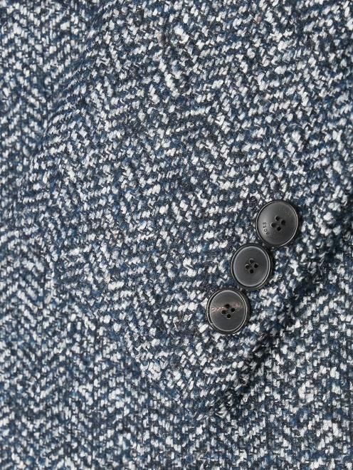 Пальто из смешанной шерсти с узором  - Деталь1