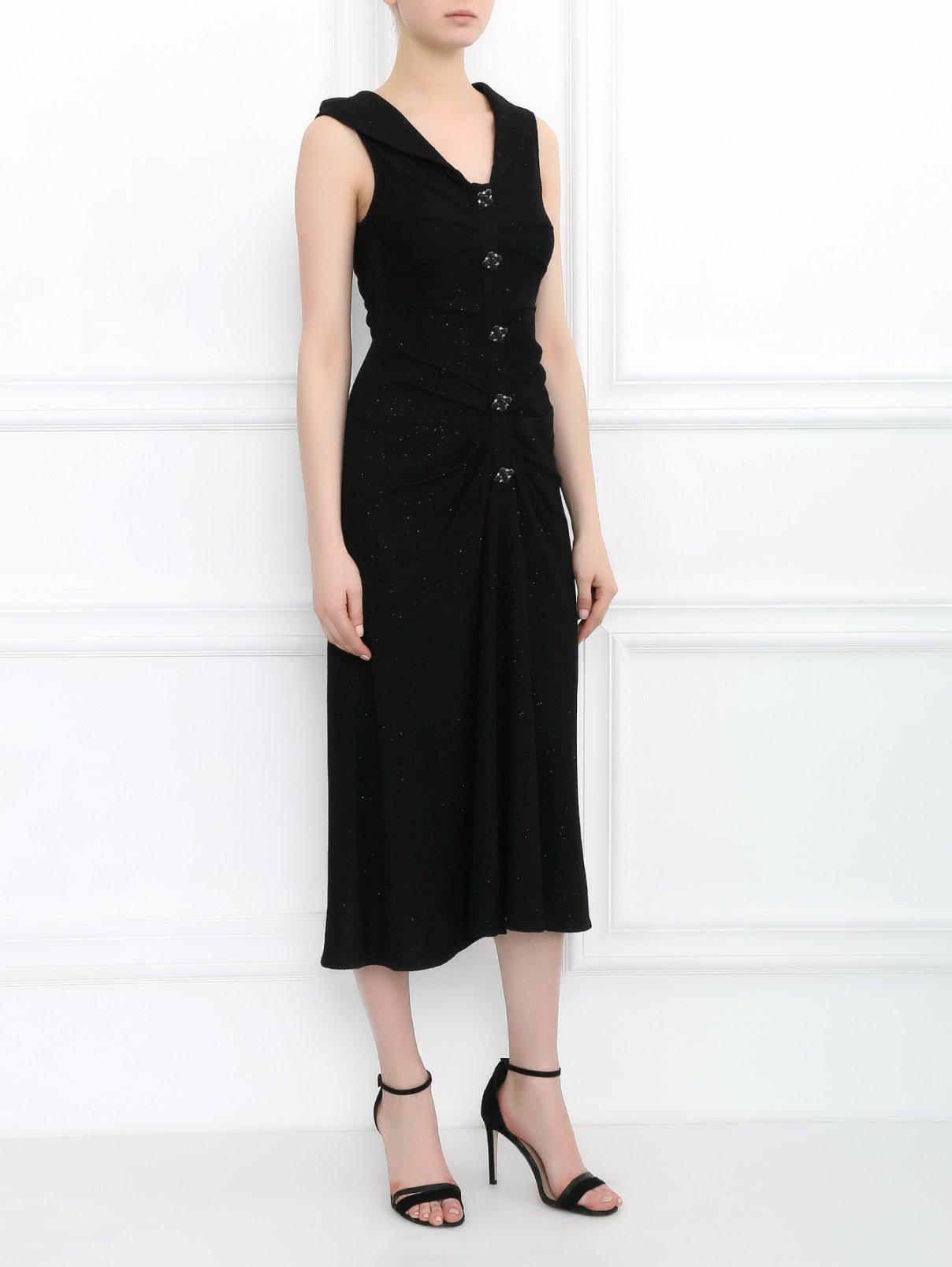Платье-миди из шерсти с декором Mariella Burani  –  Модель Общий вид