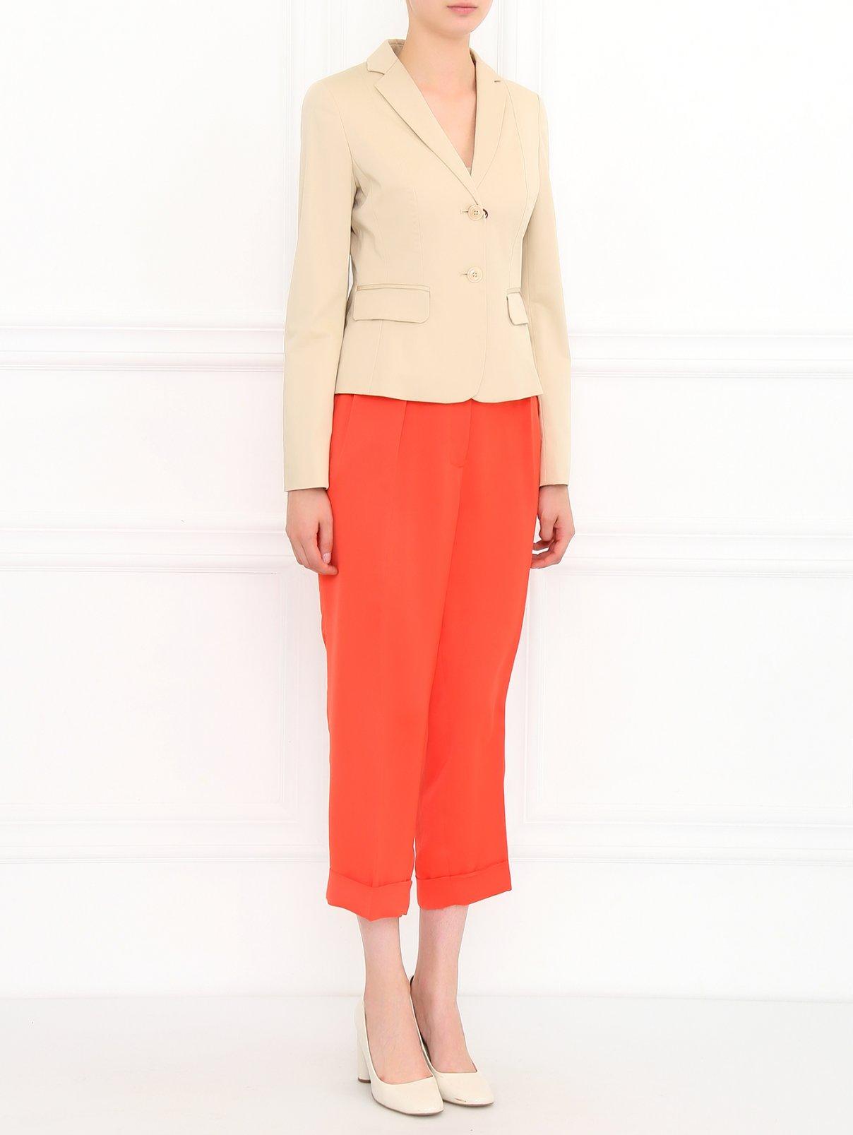 Легкие укороченные брюки Cedric Charlier  –  Модель Общий вид  – Цвет:  Красный
