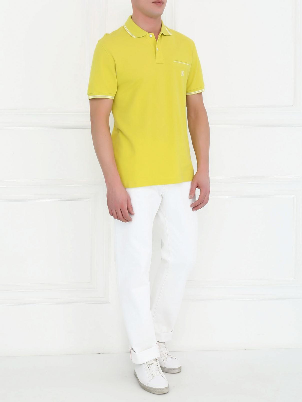 Джинсы из светлого денима прямого кроя Corneliani ID  –  Модель Общий вид  – Цвет:  Белый