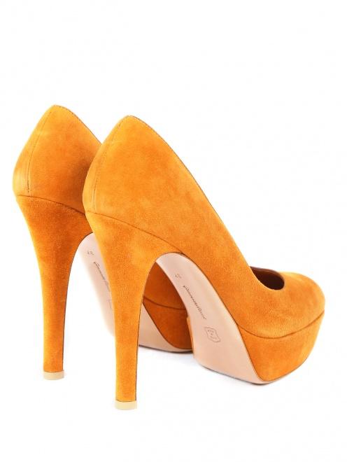 Туфли из замши на высоком каблуке - Обтравка2