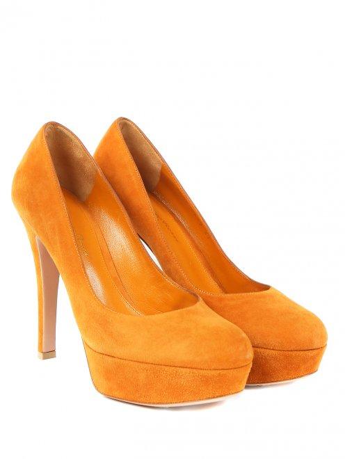 Туфли из замши на высоком каблуке - Общий вид