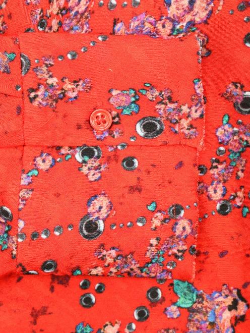 Платье свободного кроя с узором - Деталь