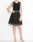 Платье из вискозы декорированное заклепками Michael by Michael Kors  –  МодельОбщийВид