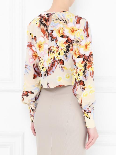 Блуза из шелка с цветочным узором - МодельВерхНиз1