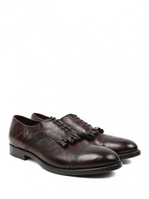 Ботинки из кожи с бахромой  - Общий вид