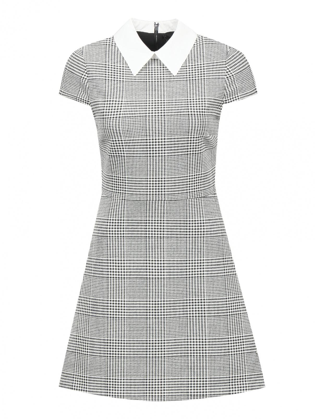 Платье-мини с узором и контрастной отделкой Alice+Olivia  –  Общий вид