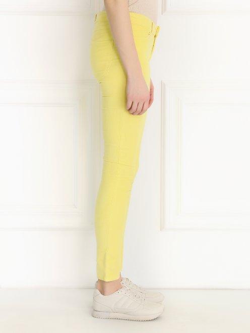 Зауженные брюки из микровельвета - Модель Верх-Низ2
