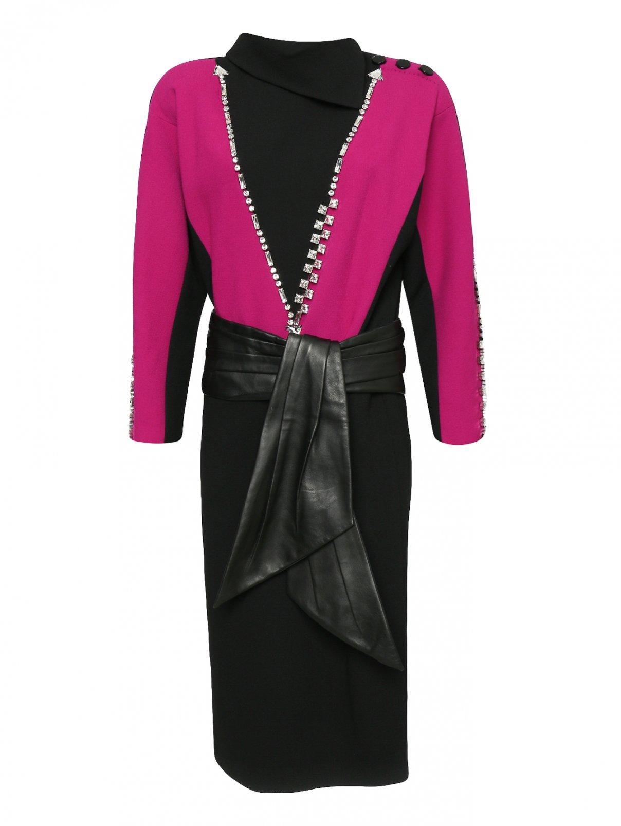 Платье-миди из шерсти с декоративной отделкой Marc Jacobs  –  Общий вид