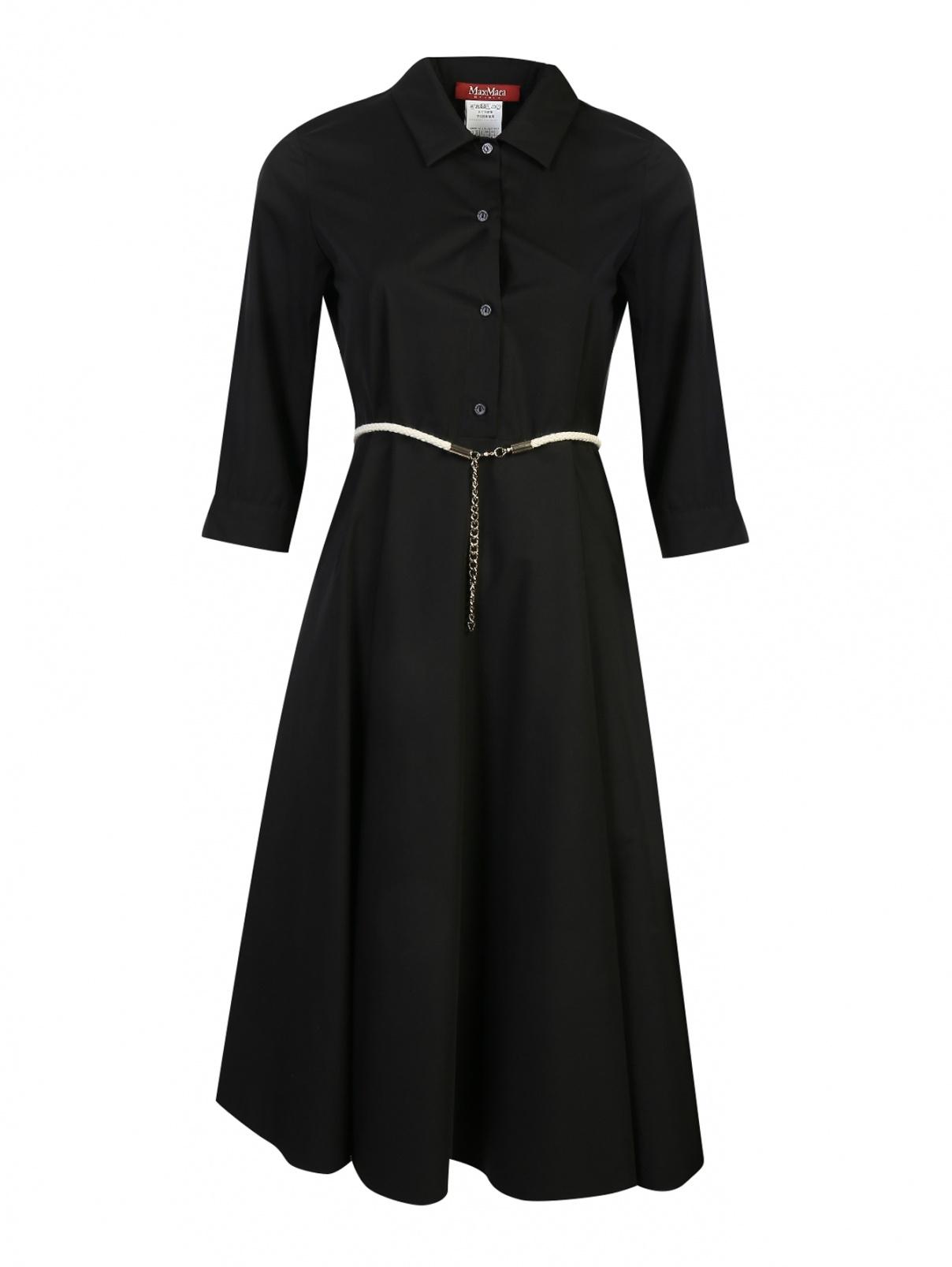 Платье из хлопка с расклешенной юбкой Max Mara  –  Общий вид