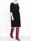 Платье-миди с контрастной отстрочкой Marina Rinaldi  –  МодельОбщийВид