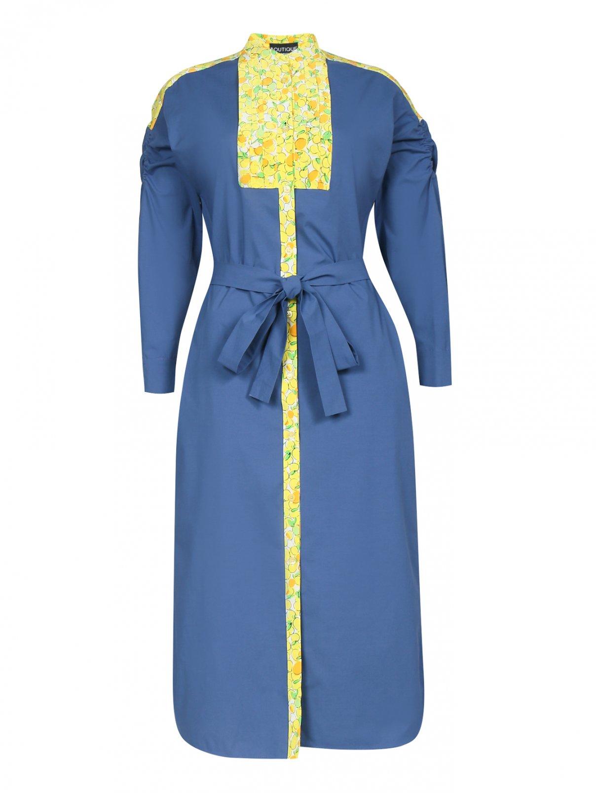 Платье-миди из хлопка с контрастной отделкой Moschino Boutique  –  Общий вид