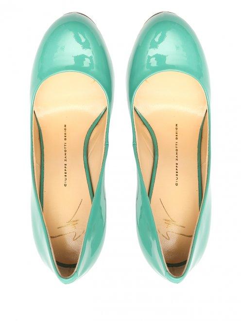 Туфли из лаковой кожи на высоком каблуке - Обтравка4