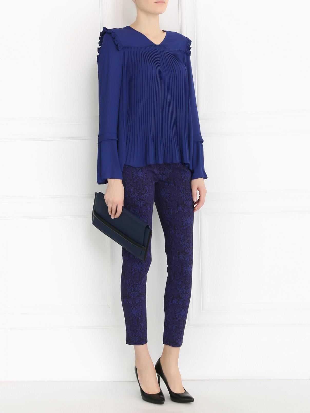 Блуза свободного кроя с рюшами See by Chloé  –  Модель Общий вид  – Цвет:  Синий